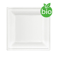 25 Assiettes Biodégradables Fibre de Canne 20cm