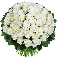 Le Bouquet 51 Roses Blanches Platine XXL