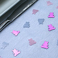 Les Confettis d�co de table Nounours Iris�s