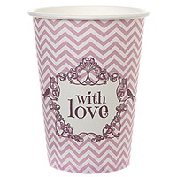 Lot de 10 Gobelets Carton With Love