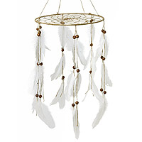 Attrape Rêves Suspension Boho Plumes 33x80cm