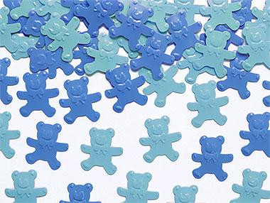Confettis ours bleu déco de table
