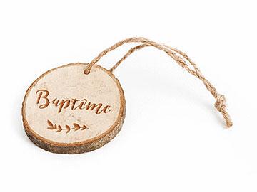 Rondins en Bois Baptême